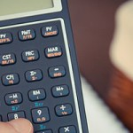 photo of a calculator in use
