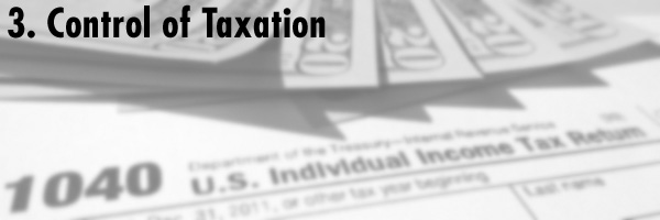 3. Control of Taxation