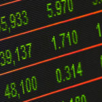 Photo of stock ticker board