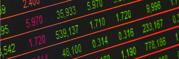 Photo of stock ticker board