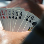 Photo of card hand at a poker game