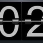 flip clock displaying 2020