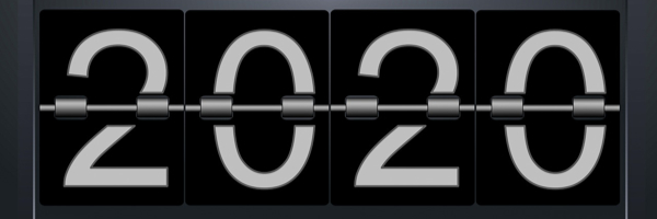 flip clock displaying 2020